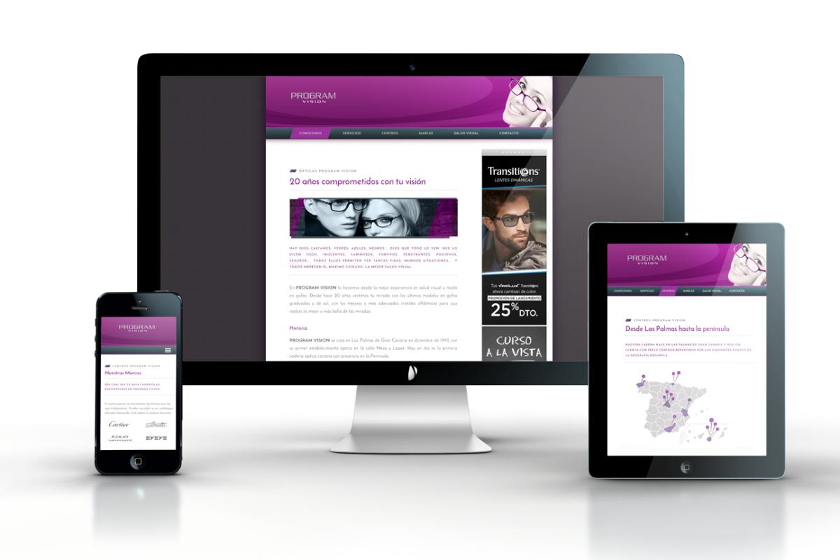 Diseño web ProgramVision Responsive