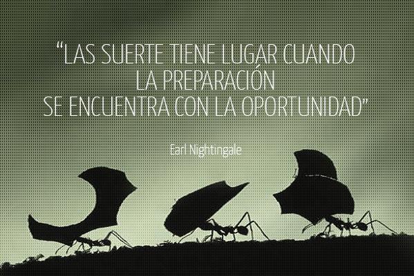 La suerte tiene lugar cuando la preparación se encuentra con la oportunidad
