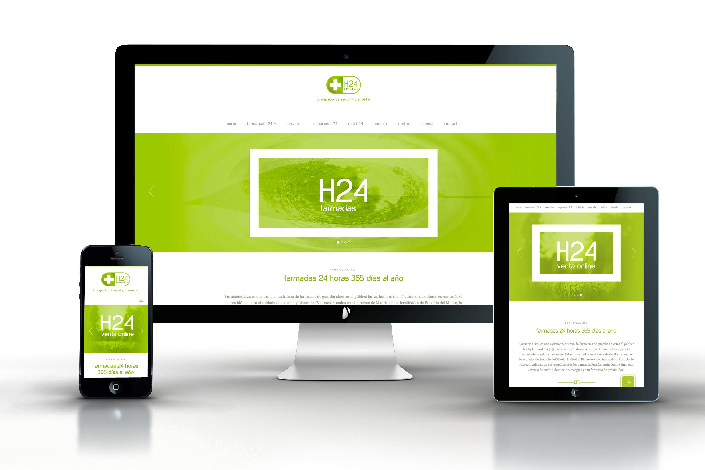 Farmacias H24. Diseño y desarrollo web