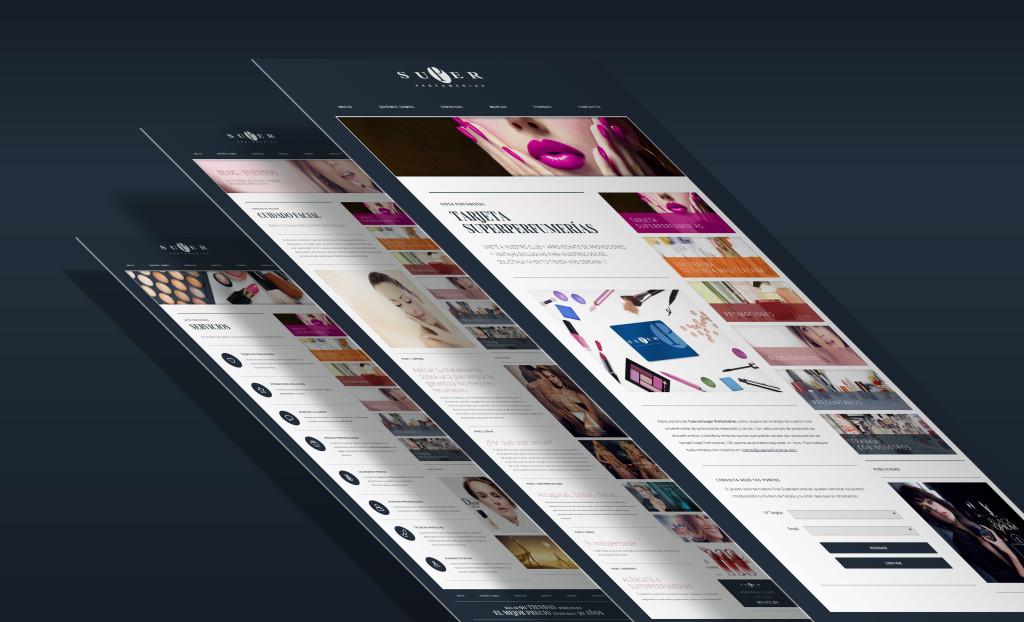 Diseño y desarrollo web SuperPerfumerias