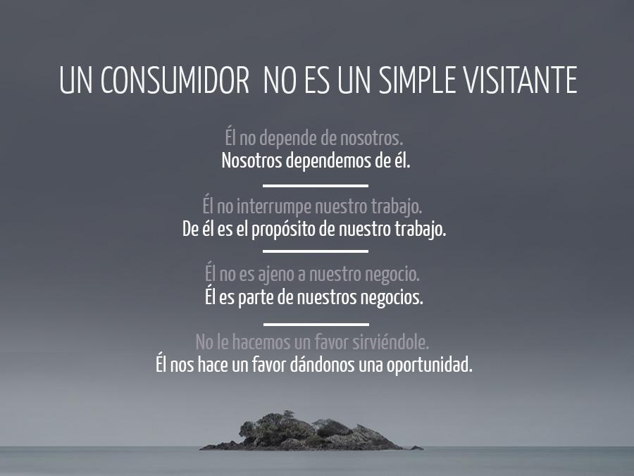 Un consumidor no es un simple visitante