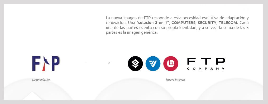 Logotipo anterior y nuevo FTP