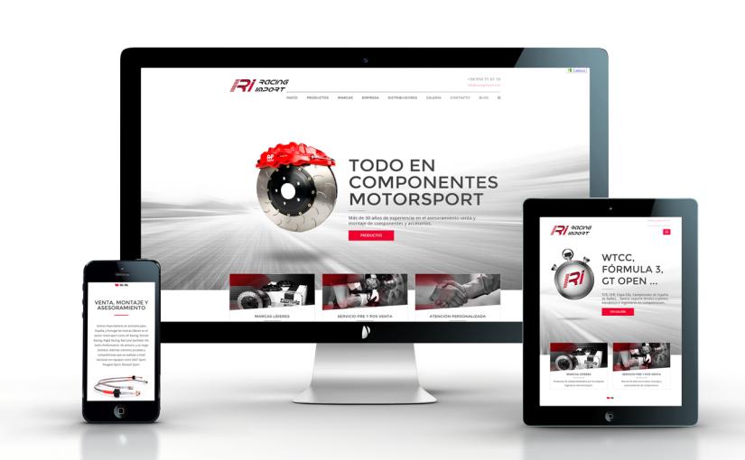 Creamos la nueva página  web de Racing Import