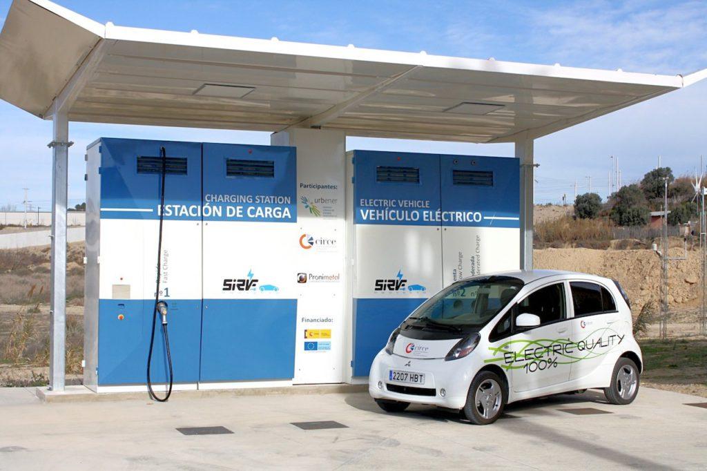 estación de carga coche eléctrico España