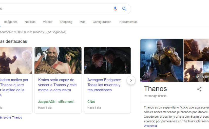 Thanos invade Google
