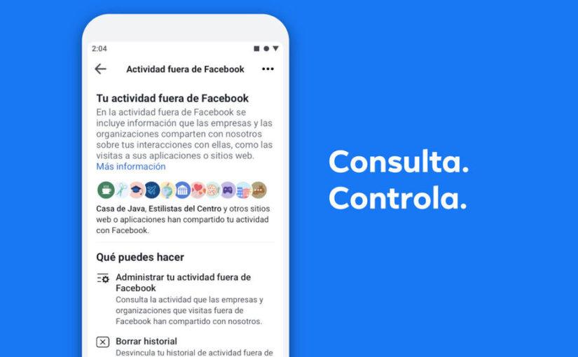 Elimina los datos que otras páginas envían a Facebook para recibir anuncios personalizados