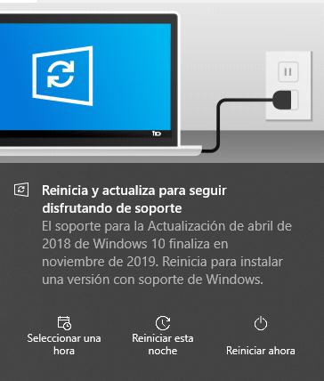 ¿A ti también te ha saltado este mensaje? Windows10 se actualiza automáticamente al finalizar su soporte