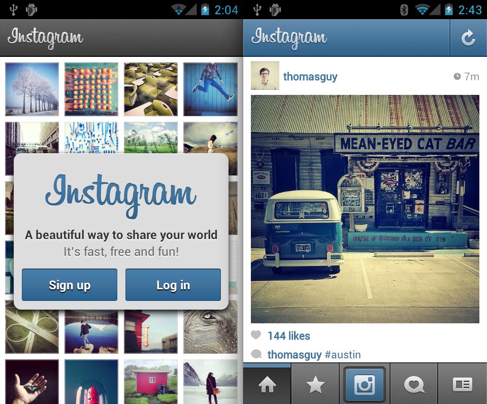 Instagram en 2012.